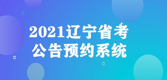 2021辽宁省考公告预约系统