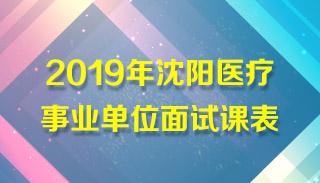 2019年沈阳医疗事业单位面试课表